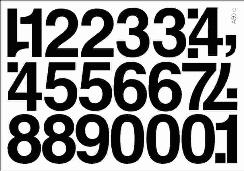 cyfry samoprzylepne wys. 50 mm