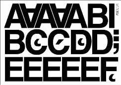 litery samoprzylepne wys. 50 mm