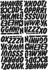 litery samoprzylepne wys. 22 mm