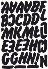 litery samoprzylepne wys. 45 mm