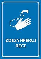 naklejka zdezynfekuj ręce